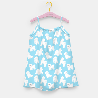 Thumbnail image of Bichon Frise Pattern (Blue Background) Girl's dress, Live Heroes