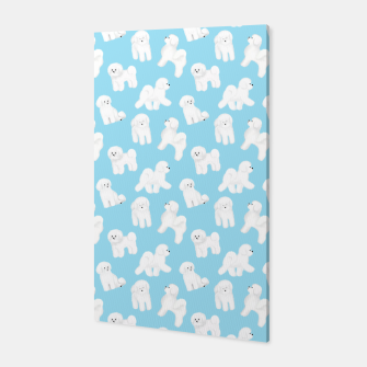 Thumbnail image of Bichon Frise Pattern (Blue Background) Canvas, Live Heroes