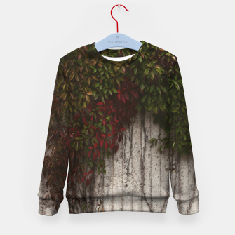 Vine wall Kid's sweater Bild der Miniatur