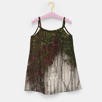 Vine wall Girl's dress Bild der Miniatur