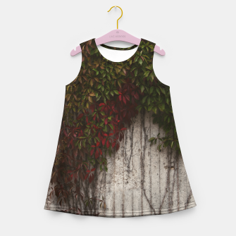 Vine wall Girl's summer dress Bild der Miniatur