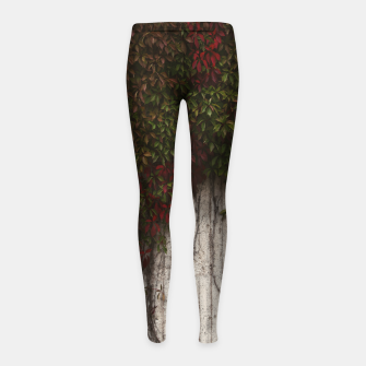 Vine wall Girl's leggings Bild der Miniatur