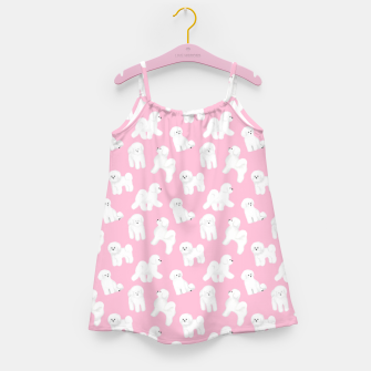 Thumbnail image of Bichon Frise Pattern (Pink Background) Girl's dress, Live Heroes