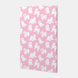 Thumbnail image of Bichon Frise Pattern (Pink Background) Canvas, Live Heroes