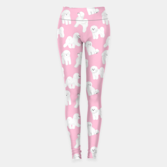 Thumbnail image of Bichon Frise Pattern (Pink Background) Leggings, Live Heroes