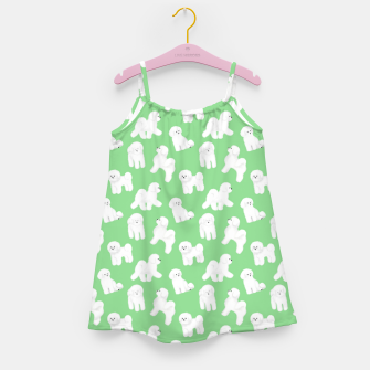 Thumbnail image of Bichon Frise Pattern (Green Background) Girl's dress, Live Heroes