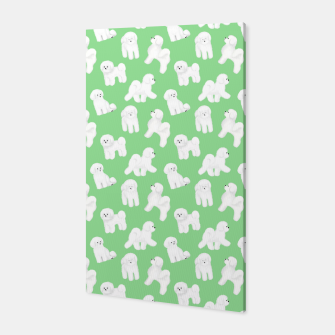 Thumbnail image of Bichon Frise Pattern (Green Background) Canvas, Live Heroes
