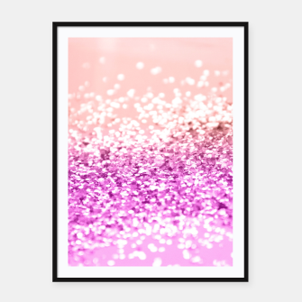 Thumbnail image of Tropical Summer Lady Glitter #3 #shiny #decor #art  Plakat mit rahmen, Live Heroes