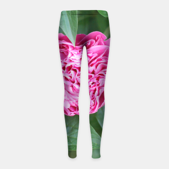 Miniaturka Paeoniae sp. Flower II Girl's leggings, Live Heroes