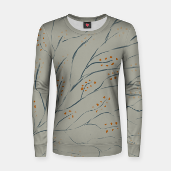 Thumbnail image of Branches on plan grey green Women sweater, Live Heroes