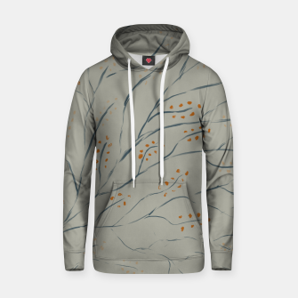 Thumbnail image of Branches on plan grey green Hoodie, Live Heroes