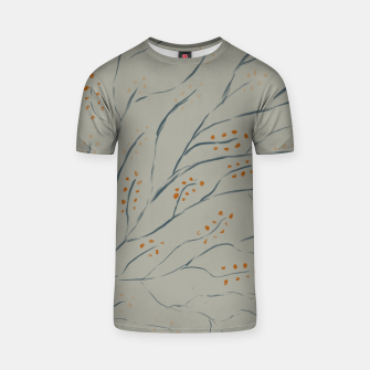 Thumbnail image of Branches on plan grey green T-shirt, Live Heroes