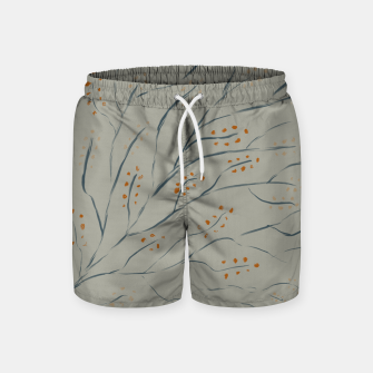 Thumbnail image of Branches on plan grey green Swim Shorts, Live Heroes