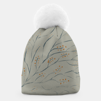 Thumbnail image of Branches on plan grey green Beanie, Live Heroes