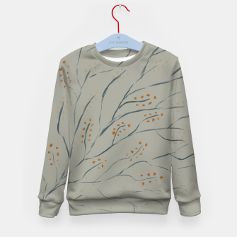 Thumbnail image of Branches on plan grey green Kid's sweater, Live Heroes