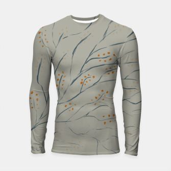 Thumbnail image of Branches on plan grey green Longsleeve rashguard , Live Heroes
