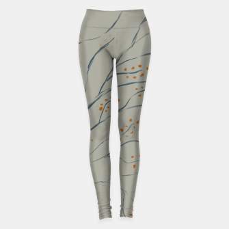 Thumbnail image of Branches on plan grey green Leggings, Live Heroes