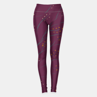Thumbnail image of Branches on dark magenta Leggings, Live Heroes