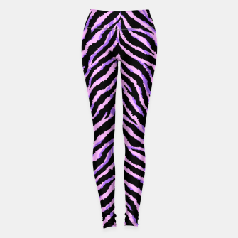 Thumbnail image of Neon zebra fur leather texture. Animal print Leggings, Live Heroes
