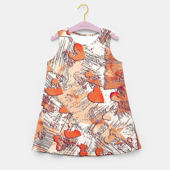 Thumbnail image of Abstract Love Girl's summer dress, Live Heroes