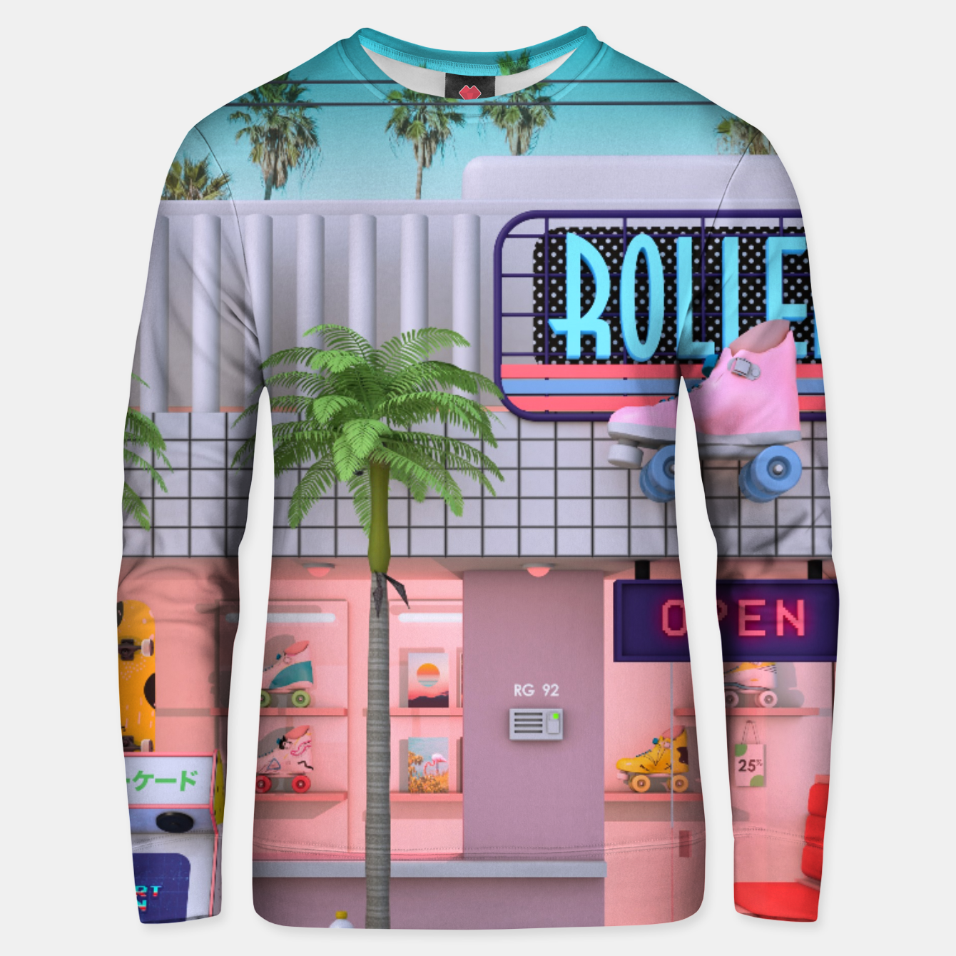 Image of Roller Skate Nostalgia Unisex sweater - Live Heroes