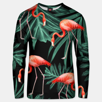 Thumbnail image of Summer Flamingo Jungle Night Vibes #2 #tropical #decor #art Unisex sweatshirt, Live Heroes