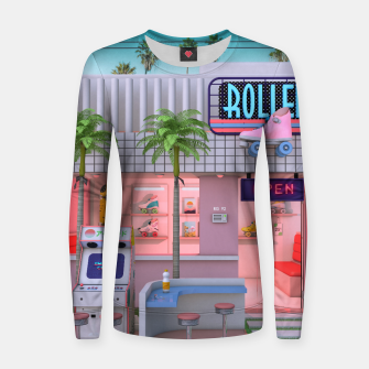 Thumbnail image of Roller Skate Nostalgia Women sweater, Live Heroes