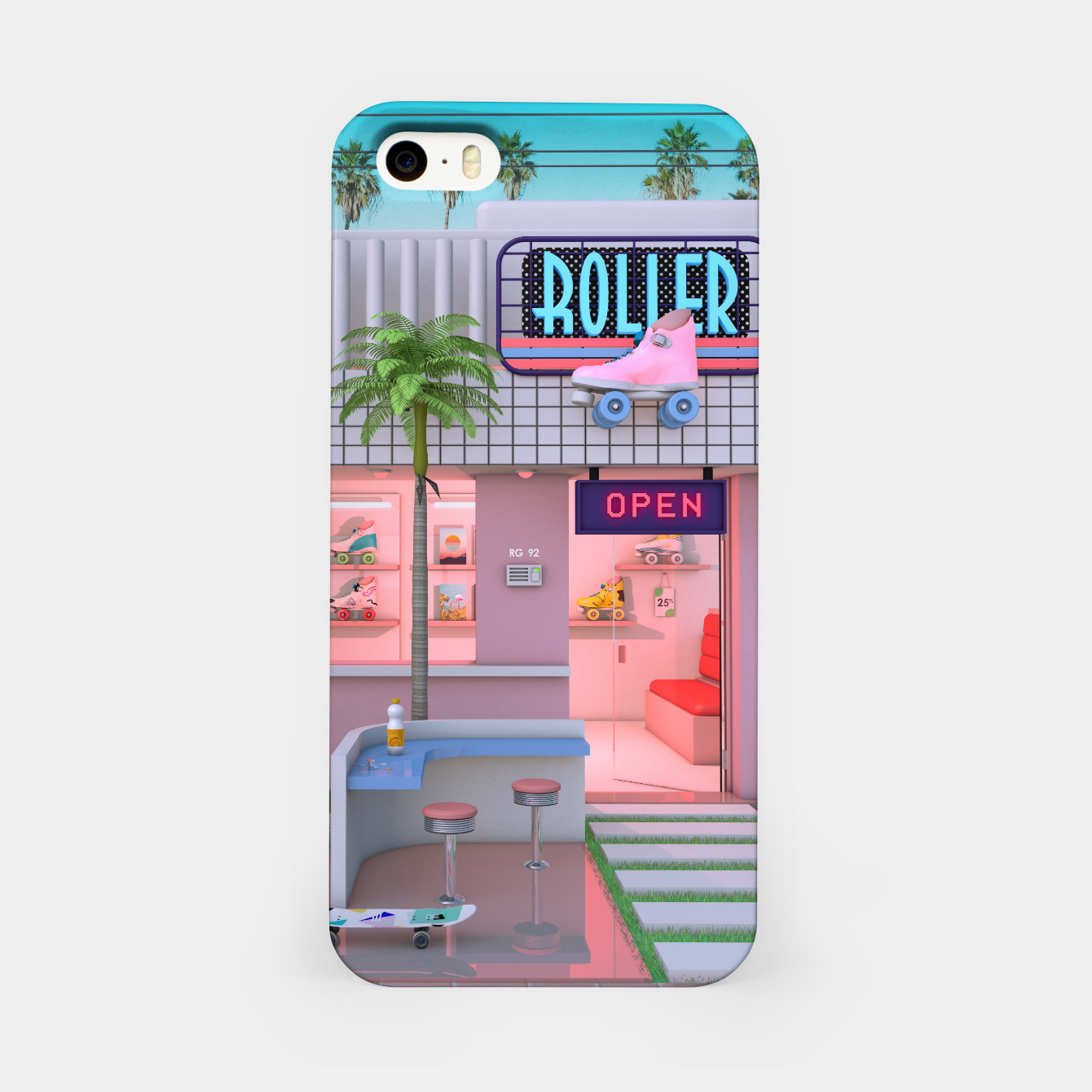 Image of Roller Skate Nostalgia iPhone Case - Live Heroes