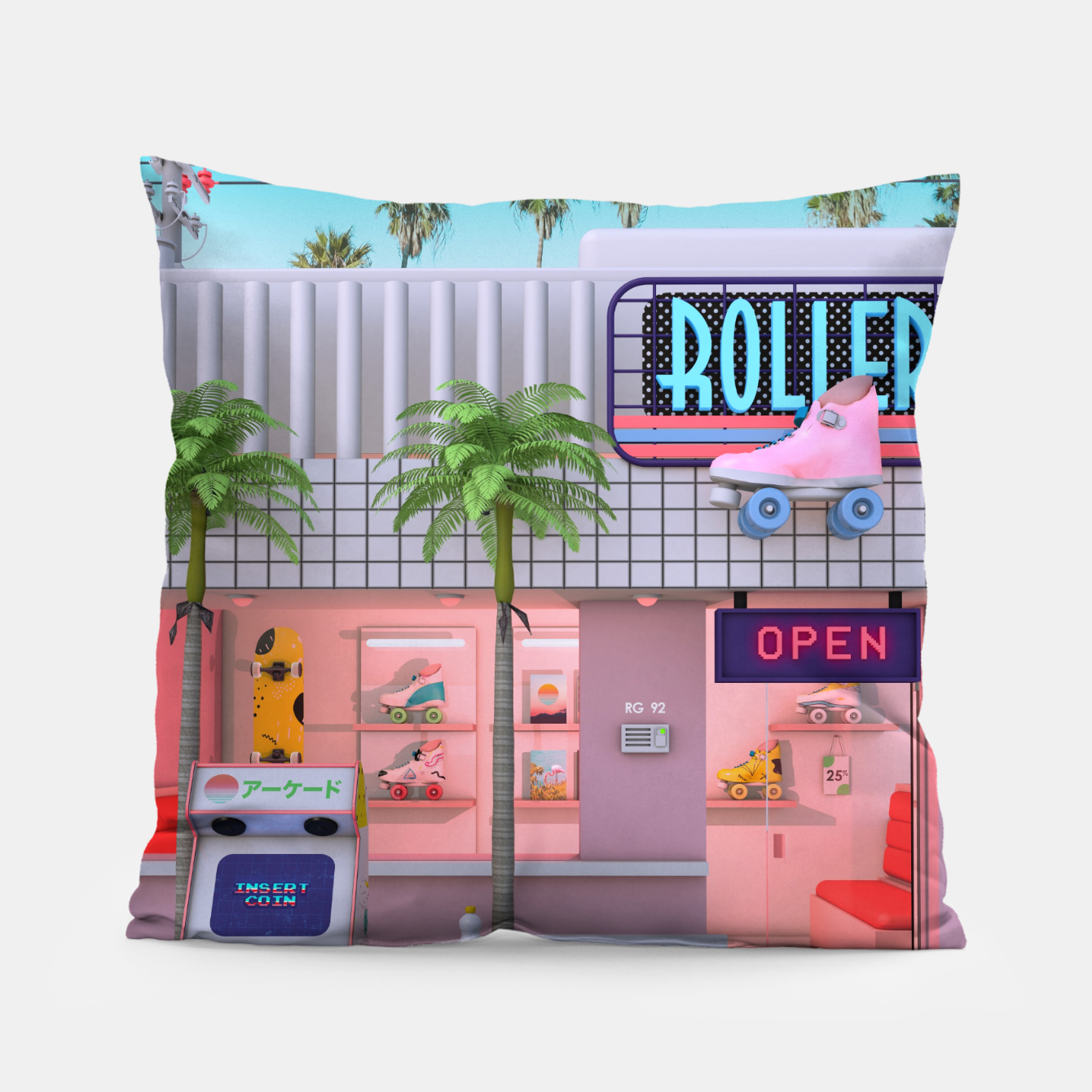 Image of Roller Skate Nostalgia Pillow - Live Heroes