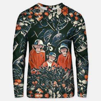 Thumbnail image of Three monkeys Unisex sweater, Live Heroes