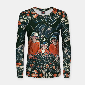 Imagen en miniatura de Three monkeys Women sweater, Live Heroes