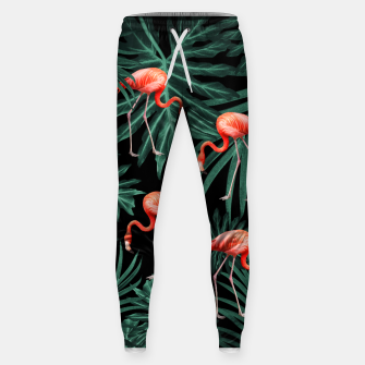 Thumbnail image of Summer Flamingo Jungle Night Vibes #2 #tropical #decor #art Hosen, Live Heroes