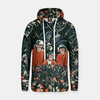Three monkeys Hoodie thumbnail image