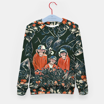 Thumbnail image of Three monkeys Kid's sweater, Live Heroes