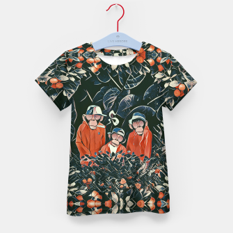 Three monkeys Kid's t-shirt Bild der Miniatur