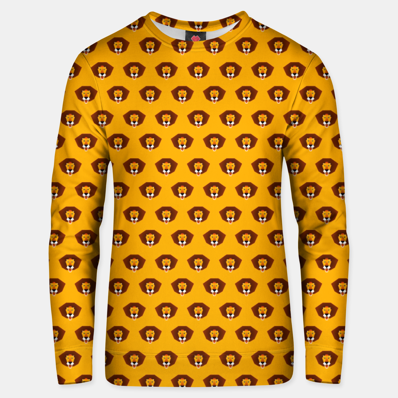 Image of Lion King on Yellow – Unisex sweater - Live Heroes