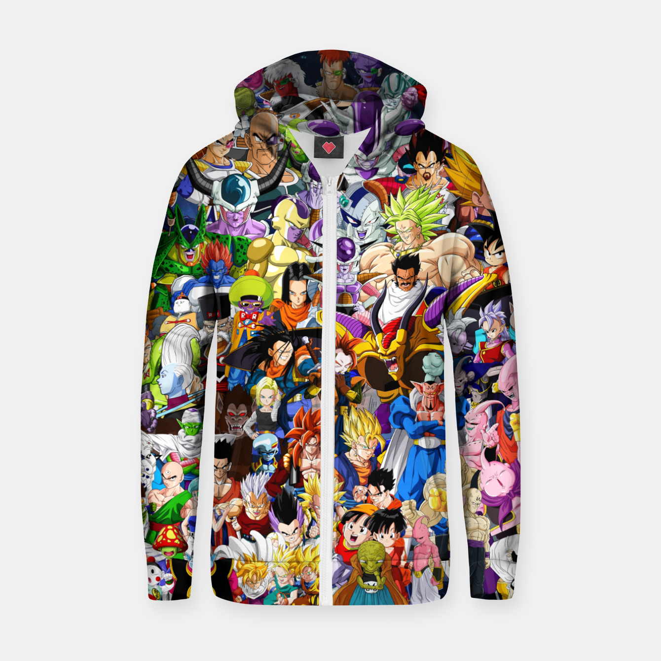 Image of DBZ Characters Zip up hoodie - Live Heroes