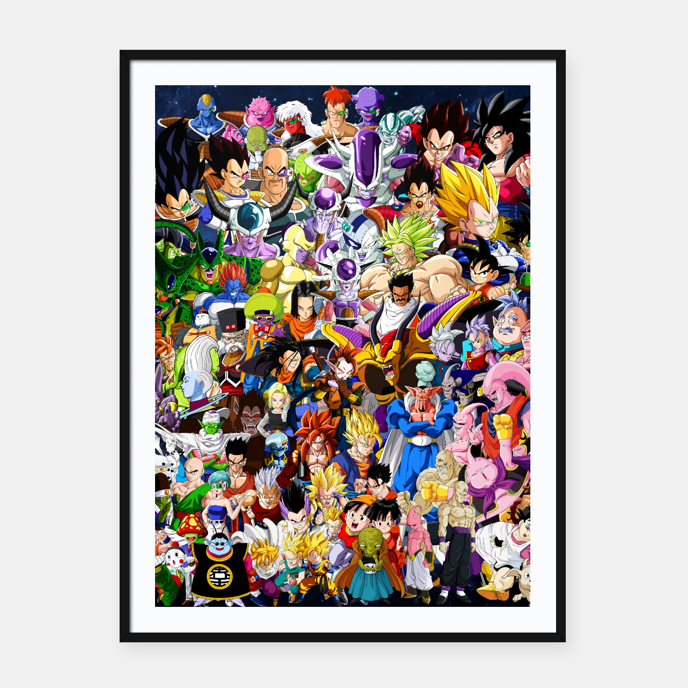 Image of DBZ Characters Framed poster - Live Heroes