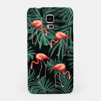 Thumbnail image of Summer Flamingo Jungle Night Vibes #2 #tropical #decor #art Handyhülle für Samsung, Live Heroes