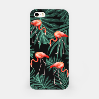 Thumbnail image of Summer Flamingo Jungle Night Vibes #2 #tropical #decor #art iPhone-Hülle, Live Heroes