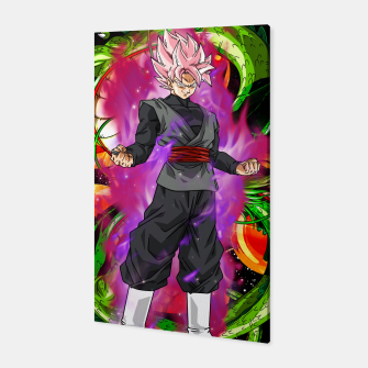 Thumbnail image of Black Goku Super Saiyan Rose Canvas, Live Heroes