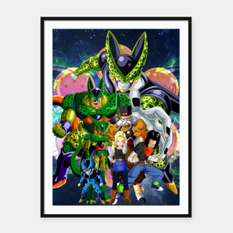 Miniatur DBZ Androids Framed poster, Live Heroes
