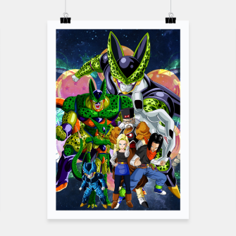 Miniatur DBZ Androids Poster, Live Heroes