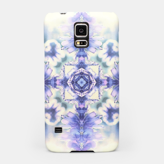 Miniatur Nature mandala ethereal blue and white Samsung Case, Live Heroes