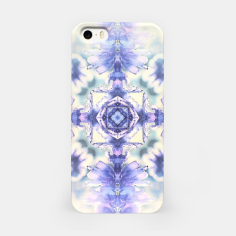 Miniatur Nature mandala ethereal blue and white iPhone Case, Live Heroes