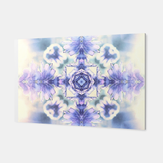 Thumbnail image of Nature mandala ethereal blue and white Canvas, Live Heroes