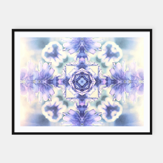 Miniatur Nature mandala ethereal blue and white Framed poster, Live Heroes