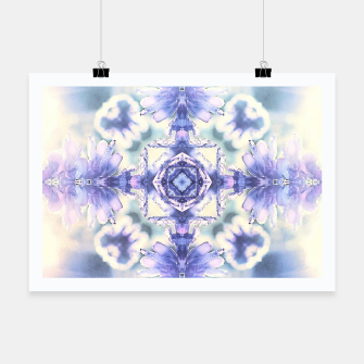 Miniatur Nature mandala ethereal blue and white Poster, Live Heroes