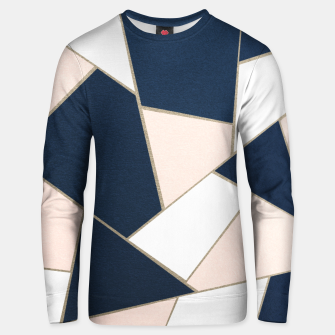 Thumbnail image of Navy Blue Blush White Gold Geometric Glam #1 #geo #decor #art Unisex sweatshirt, Live Heroes