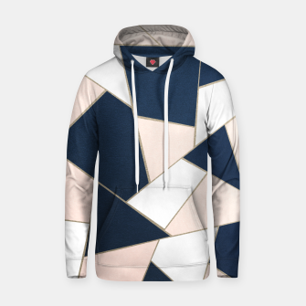 Thumbnail image of Navy Blue Blush White Gold Geometric Glam #1 #geo #decor #art Kapuzenpullover, Live Heroes